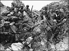 Mujahideen fighters in the Soviet-Afgan War