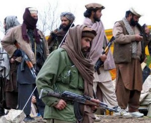 Taliban fighters around the Pakistan-Afghan border